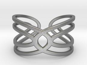 Geometri-K Waves Size 7 Medium in Natural Silver