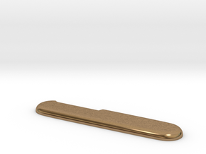 Victorinox replacement scale (for aluminum print) in Natural Brass