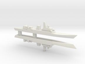 Haijing/CCG-31240 Patrol Ship x2, 1/2400 in White Natural Versatile Plastic