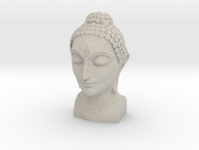 Bust of Buddha in Natural Sandstone