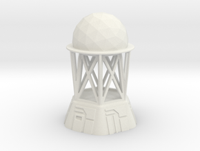 Radar Control Tower (Large Dome) in White Natural Versatile Plastic