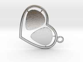 GPick Heart key accessory  in Natural Silver