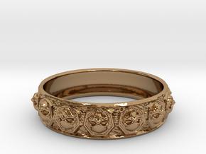 SKULLZ bangle in Polished Brass