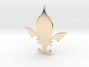 Fleur-de-lys pendant in 14k Gold Plated Brass
