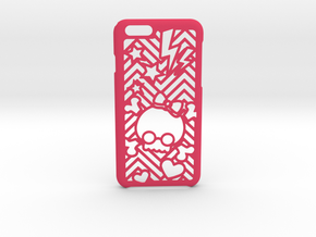 BowSkull iPhone 6 6s case in Pink Strong & Flexible Polished
