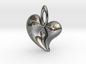 Heart Pendant1 in Premium Silver