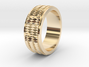 Pattern Ring Size 6 in 14K Yellow Gold