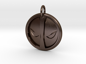Deadpool Pendant in Polished Bronze Steel