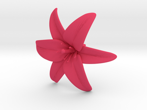 Lily Blossom (large) in Pink Processed Versatile Plastic
