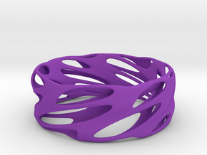 Bracelet Spiral in Purple Processed Versatile Plastic