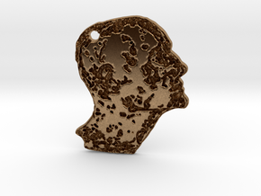 Craggie Bust Charm in Natural Brass
