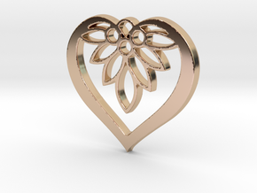 Flower of my Heart Pendant - Amour Collection in 14k Rose Gold Plated Brass
