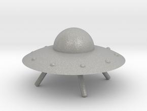 UFO with Landing Gear in Aluminum