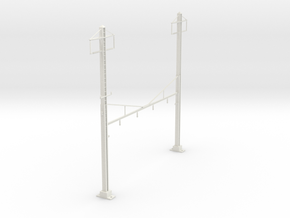 HO Scale PRR K Braced 4 Track 2ph in White Natural Versatile Plastic