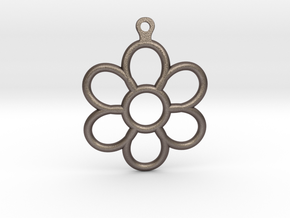 Share Your Smile With Me Sunflower Earrings (Small in Polished Bronzed Silver Steel