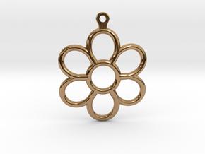 Share Your Smile With Me Sunflower Earrings (Small in Polished Brass
