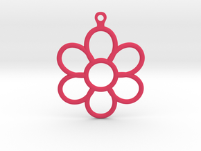 Share Your Smile With Me Sunflower Earrings (Big)  in Pink Processed Versatile Plastic