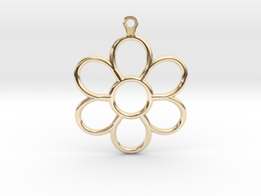 Share Your Smile With Me Sunflower Earrings (Big)  in 14k Gold Plated Brass