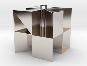 Keychain 5 in Rhodium Plated Brass