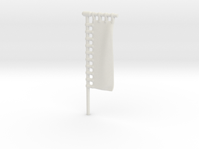 28mm/32mm Customisable Sashimono Flag Long in White Natural Versatile Plastic