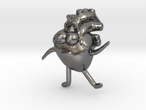Heart, the awkard yeti in Polished Nickel Steel