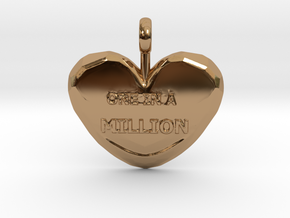 One in a Million Valentine Heart pedant in Polished Brass