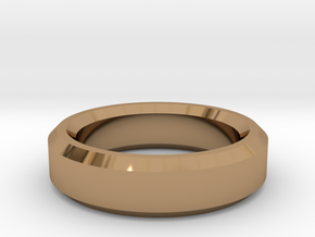 Ring Size 8 (Chamfered) in Polished Brass