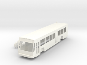 HO Scale Gillig BRT Bus Right Hand Drive in White Processed Versatile Plastic