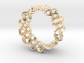 Tzompantli Bangle in 14K Yellow Gold: Large