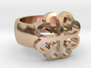 Adinkra Rings - Series 2: Nyame Dua in 14k Rose Gold Plated Brass
