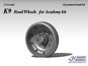 1/35 K9 road wheels in Smooth Fine Detail Plastic