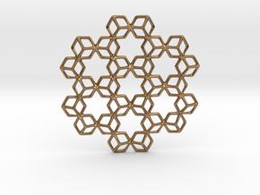 Hexagrammaton Pendant in Natural Brass