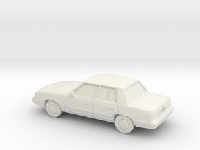 1/87 1985-89 Plymouth Reliant Sedan in White Natural Versatile Plastic
