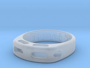 US10 Ring XX: Tritium in Smooth Fine Detail Plastic