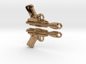 Precious Rodian Blasterearrings in Polished Brass