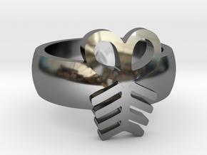 Adinkra Rings - Series 2: Aya in Premium Silver