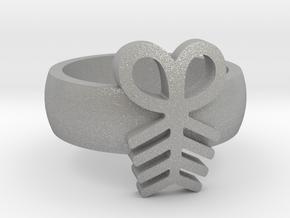 Adinkra Rings - Series 2: Aya in Aluminum