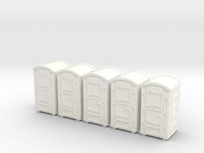 Portable Toilet 01. HO Scale (1:87) in White Processed Versatile Plastic