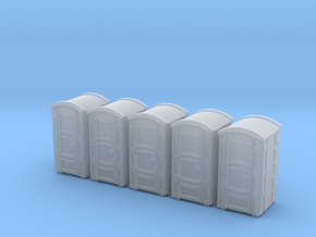 Portable Toilet 01. HO Scale (1:87) in Smooth Fine Detail Plastic