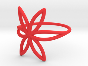 FLOWER OF LIFE Ring Nº7 in Red Processed Versatile Plastic