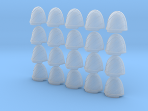 Chevron Left - 20, 28mm Shoulder Pads in Smooth Fine Detail Plastic