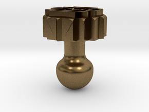 Cufflink  in Natural Bronze