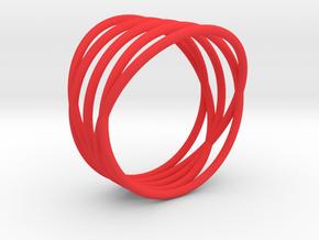 EMI Ring Nº2 in Red Processed Versatile Plastic