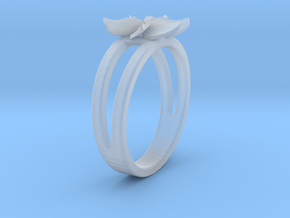Flower Ring Size 5 in Smooth Fine Detail Plastic