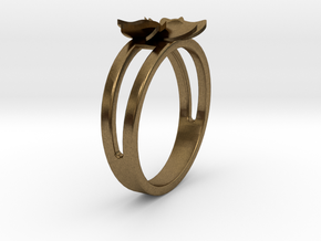 Flower Ring Size 7 in Natural Bronze
