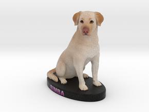 Custom Dog Figurine - Bimba in Full Color Sandstone
