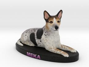 Custom Dog Figurine - Meka in Full Color Sandstone