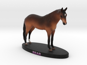 Custom Horse Figurine - Bear in Full Color Sandstone