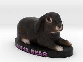 Custom Pet Figurine - MokaBear in Full Color Sandstone