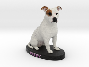 Custom Dog Figurine - Petey in Full Color Sandstone